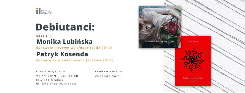 Debiutanci Monika Lubińska I Patryk Kosenda Instytut